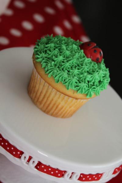 Photo: Ladybug cupcake